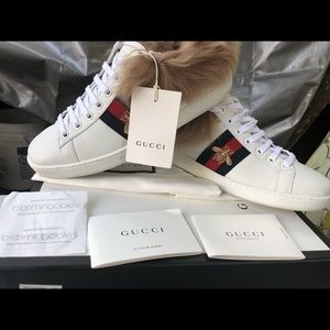 0ef33b234f9 Gucci Shoes - Gucci ace with wool sneakers